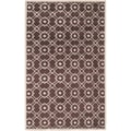 Hand-tufted Laren Brown New Zealand Wool Rug (8' x 11')