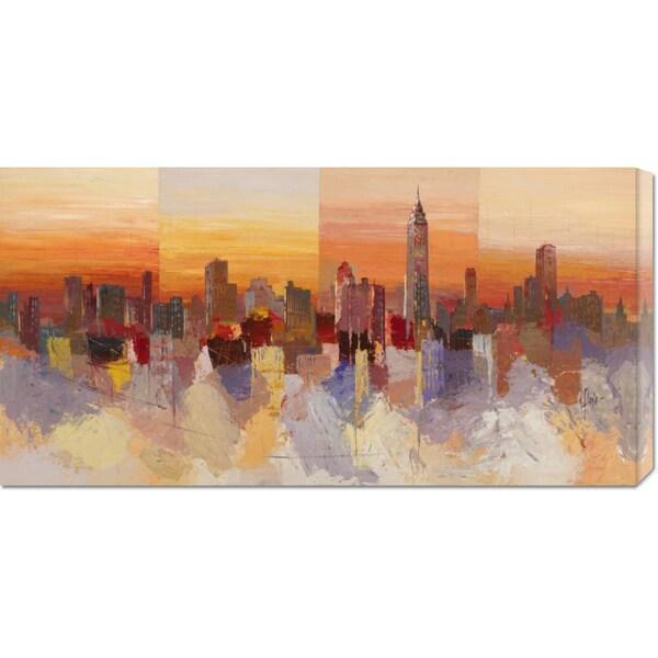 Luigi Florio 'Sognando New York' Stretched Canvas