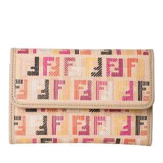 Fendi Multicolored Canvas Zucchino Print Wallet
