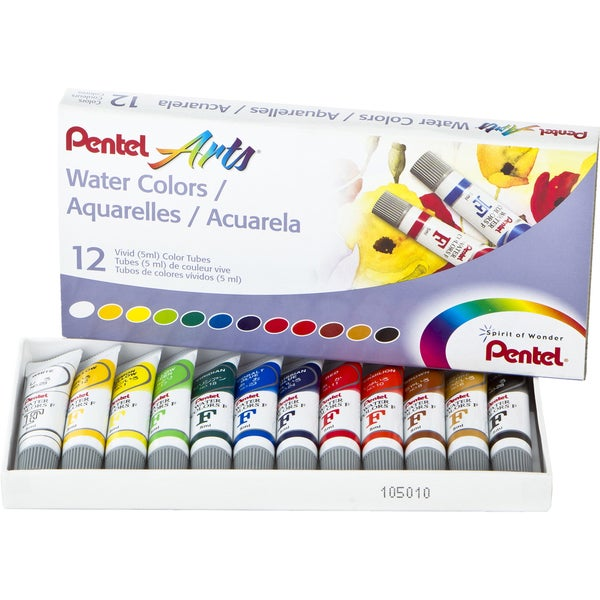 Watercolors 5ml 12/Pkg-Assorted Colors