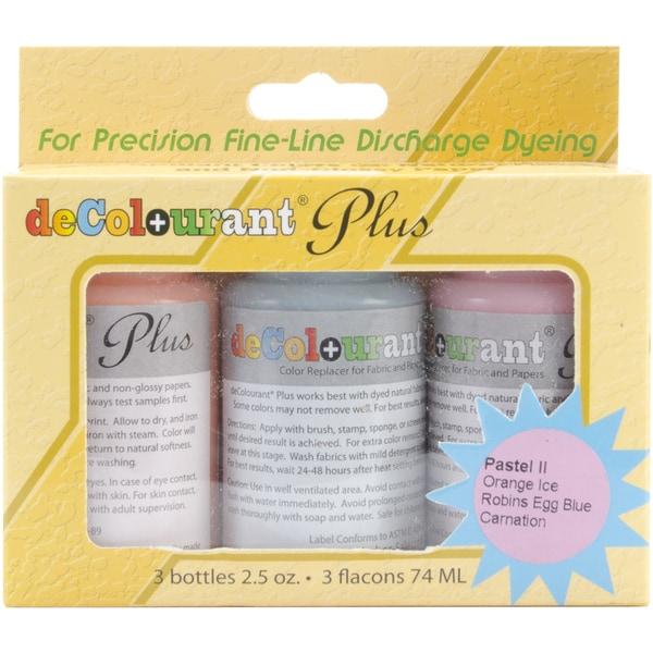 Fabric decolourant 3/Pkg-Pastel II -Orange, Robin Egg, Carnation
