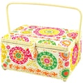 "Flip-Lid Rectangle Sewing Basket - 12-1/2"" X 9-1/2"" X 6-3/4"""
