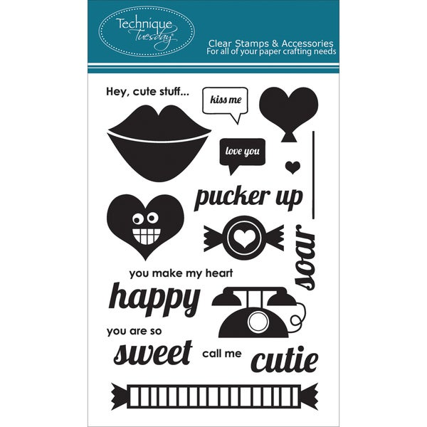 "Technique Tuesday Clear Stamps 4""X6""-Pucker Up"