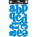 "Mambi Large Alphabet Stickers 10 Sheets 7""X12""-Blue"