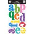 "Mambi Large Alphabet Stickers 10 Sheets 7""X12""-Primary Colors With Dots"