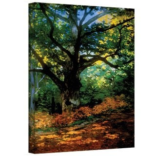 Claude Monet 'Bodmer Oak at Fountainbleau Forest' Gallery Wrapped Canvas