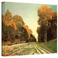 Claude Monet 'Lumber Wagon' Gallery Wrapped Canvas