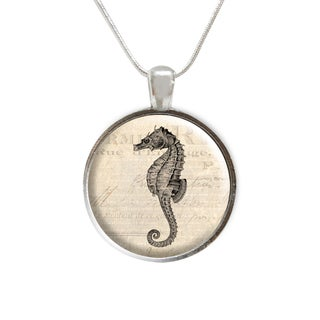 ABO Enterprises Seahorse Beach Glass Pendant and Necklace