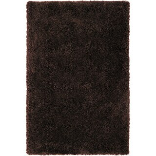 Hand-tufted Zwolle Coffee Bean Brown Soft Plush Shag Rug (2' x 3')