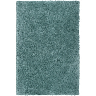 Hand-tufted Kampen Dark Robin's Egg Blue Soft Plush Shag Rug (3'3 x 5'3)