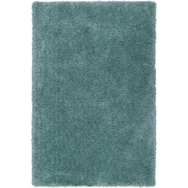 Hand-tufted Kampen Dark Robin's Egg Blue Soft Plush Shag Rug (3'3 x 5'3)