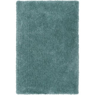 Hand-tufted Kampen Dark Robin's Egg Blue Soft Plush Shag Rug (2' x 3')