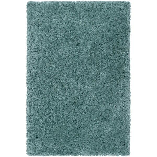 Hand-tufted Kampen Dark Robin's Egg Blue Soft Plush Shag Rug (8' x 10'6)