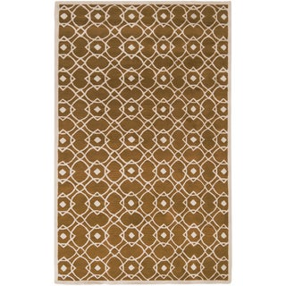 Hand-tufted Almelo Yellow Wool Rug (8' x 11')