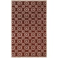 Hand-tufted Weesp Red New Zealand Wool Rug (5' x 8')