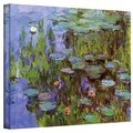 Claude Monet &#39;Sea Roses&#39; Gallery Wrapped Canvas