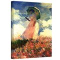 Claude Monet 'Woman with Sunshade' Gallery Wrapped Canvas