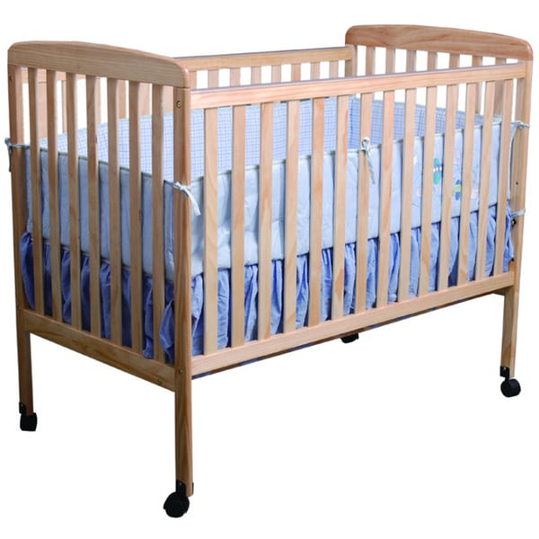 K&B Natural Finish Wood Baby Crib