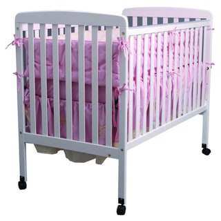 K&B White Finish Wood Baby Crib