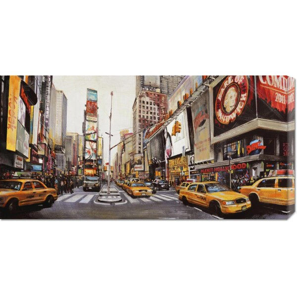 John B. Mannarini 'Times Square Perspective' Stretched Canvas