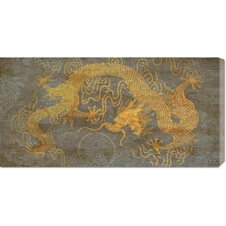 Joannoo 'Golden Dragon' Stretched Canvas