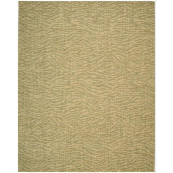 Cosmopolitan Beige / Green Tiger Print Rug (8'3 x 11'3)