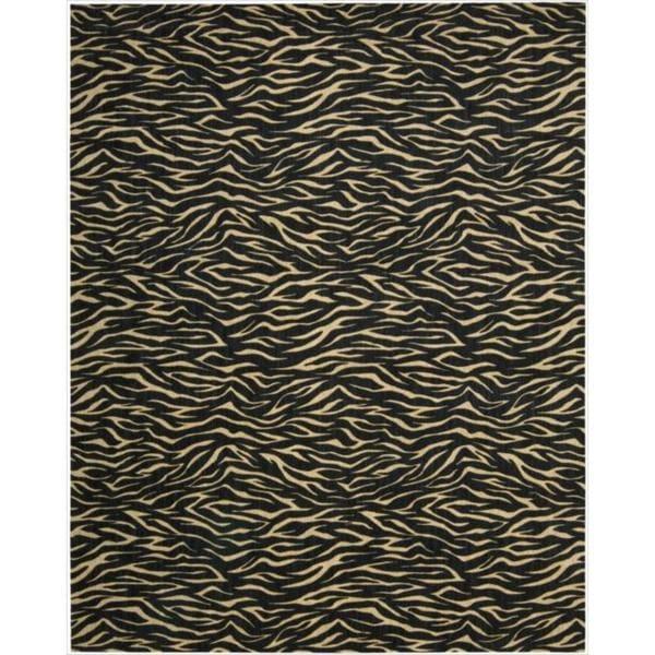Cosmopolitan Midnight Tiger Print Rug (7'6 x 9'6)