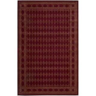 Cosmopolitan Burgundy Diamond Print Rug (3'6 x 5'6)