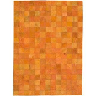 Barclay Butera Leather Tangerine Medley Rug (5'3 x 7'5) by Nourison