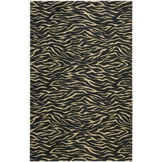 Cosmopolitan Midnight Tiger Print Rug (9'9 x 13'9)