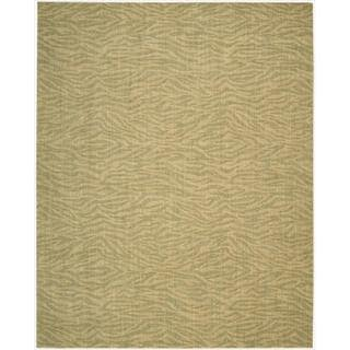 Cosmopolitan Beige/ Green Tiger Print Rug (9'9 x 13'9)