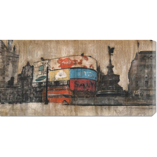 Dario Moschetta 'Piccadilly Circus 1' Stretched Canvas