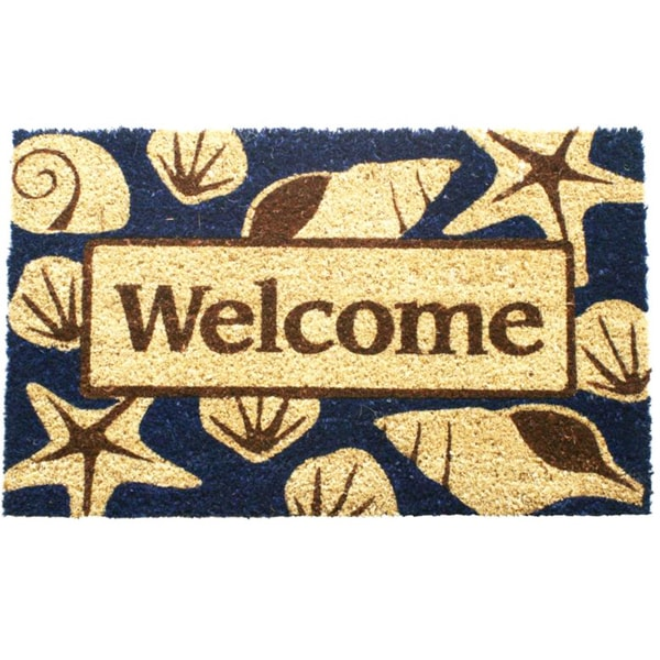 Beach Welcome Coir Doormat