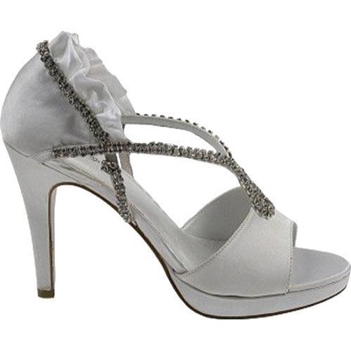 Women's Allure Bridals Prima Diamond White Silk Satin