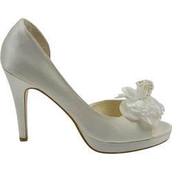 Women's Allure Bridals Princess Ivory Silk Satin