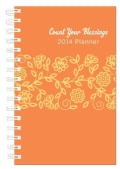 Count Your Blessings Orange Cover 15-Month 2014 Planner (Calendar)