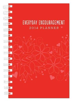 Everyday Encouragement Red Cover 15-Month 2014 Planner (Calendar)