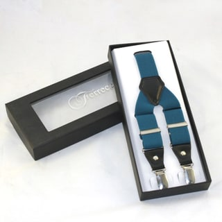 Ferrecci Men's Teal Adjustable Suspenders
