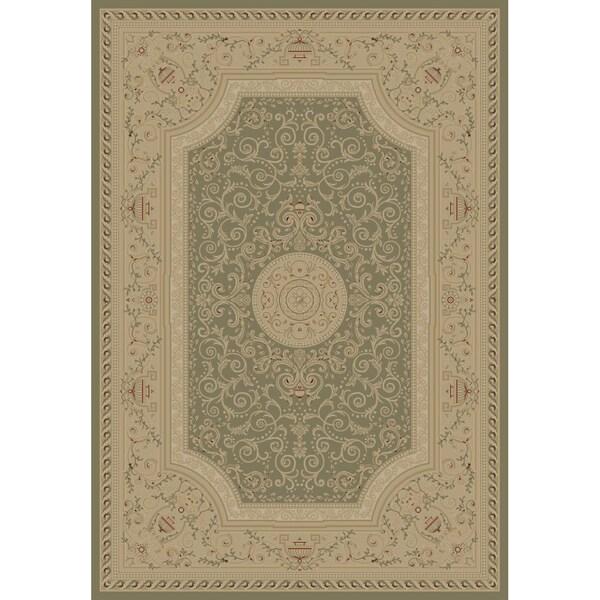 Elegant Soft-Gray Area Rug (7'10 x 10'10)