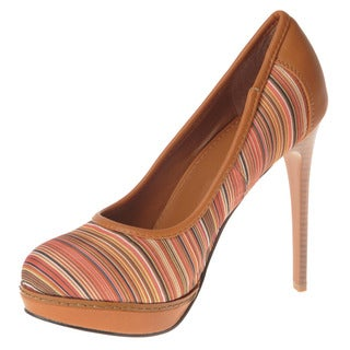 Henry Ferrera Women's Textured Stripe Pumps