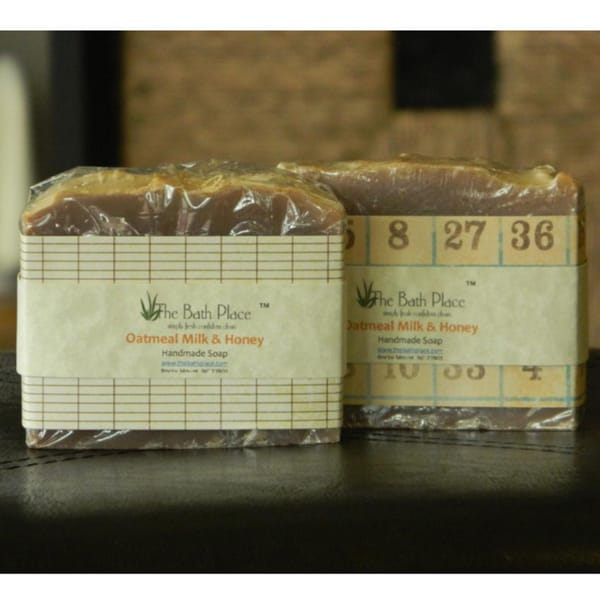 The Bath Place Oatmeal Milk and Honey Handcrafted Soap