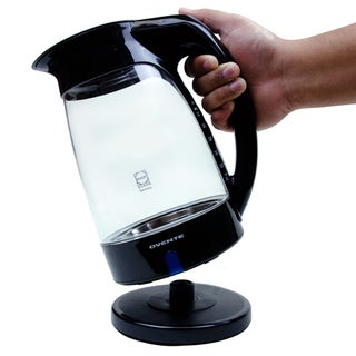 Ovente Black Glass Electric Kettle
