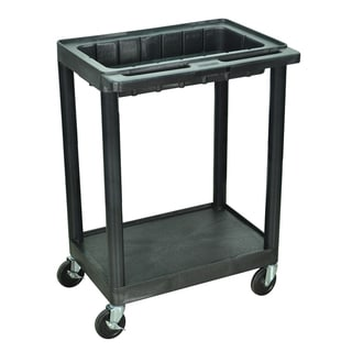 Luxor Black 2-shelf Utility Cart