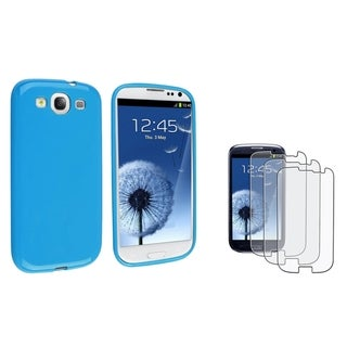 BasAcc TPU Case/ Anti-Glare LCD Protector for Samsung Galaxy S III/ S3