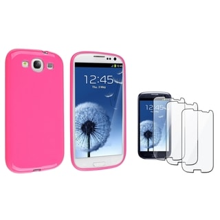 BasAcc Pink TPU Case/ Screen Protector for Samsung Galaxy S III/ S3