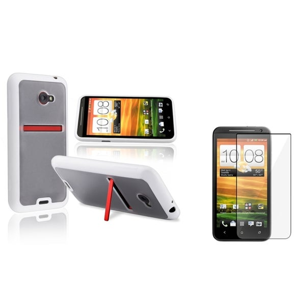 INSTEN Hybrid Phone Case Cover/ Screen Protector for HTC EVO 4G LTE