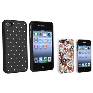 BasAcc Black Diamond Gem/ Autumn Leaves Case for Apple iPhone 4/ 4S