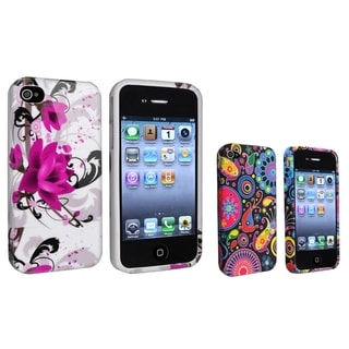 BasAcc Fish/ White with Purple Flower TPU Cases for Apple iPhone 4/ 4S