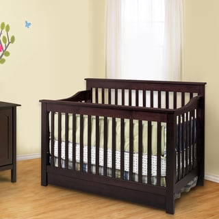 DaVinci Piedmont 4-in-1 Convertible Crib with Toddler Rail in Espresso