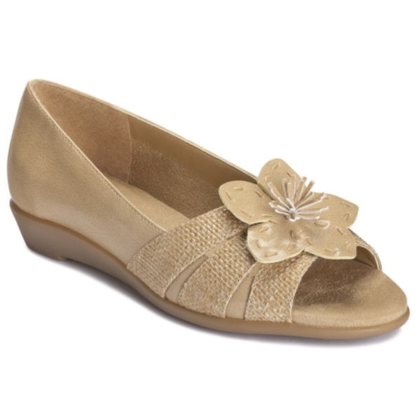 A2 by Aerosoles Women's 'Baccarat' Natural Combo Slip-on Sandals